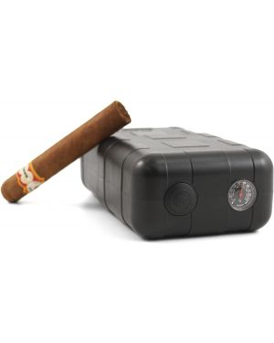 Perfecto XLT 8 ct crushproof humidifying Travel Cigarette Humidor case
