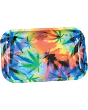 Colorful Leaf Rolling Tray - Metal