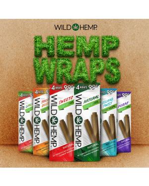 Wild Hemp - 4 Hemp Wraps Per Pack