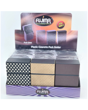 FUJIMA LEATHER PATTERN CIGARETTE PACK HOLDER FOR KING's (CH125)