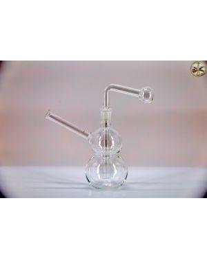 """GOGH - 6"""" Double bulb Oiler bubbler"""