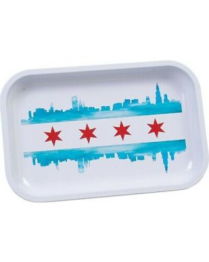 City Of Chicago Rolling Tray - Metal