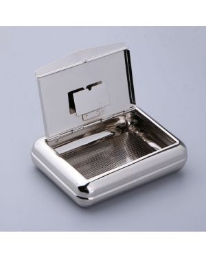 Metal Tobacco Box with Rolling paper Holder