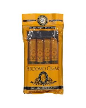 Perdomo 4-Pack Humidified Bag - 10th Anniversary Champagne