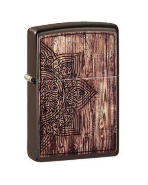 Zippo   Wood Mandala Design -1